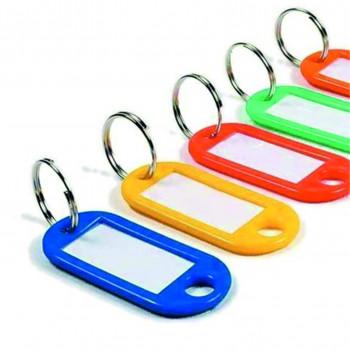 Бирка для ключей пластиковая с бумажной вставкой