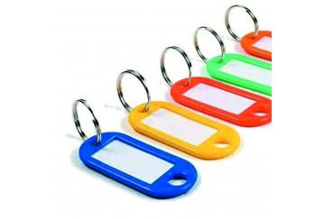 Бирки для ключей пластиковые с бумажной вставкой